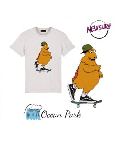 T-Shirt l'île aux skateurs Ocean Park, shop New Surf à Dinan, Bretagne