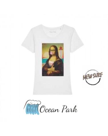 T-Shirt Mona Lisa Ocean Park, shop New Surf à Dinan, Bretagne