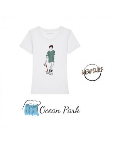T-Shirt Frida Kahlo skateuse Ocean Park, shop New Surf à Dinan, Bretagne