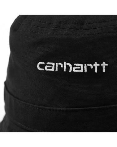 Bob Script Carhartt, détail logo script brodé, shop New Surf à Dinan, Bretagne