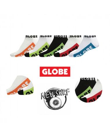Lot de 5 paires de chaussettes à tige basse 72808 Globe, shop New Surf à Dinan, Bretagne