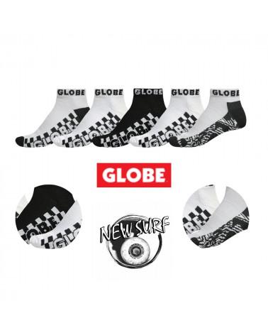 Lot de 5 chaussettes à tige basse 72810 Globe, shop New Surf à Dinan, Bretagne