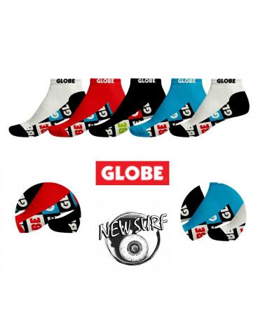 Lot de 5 paires de chaussettes tiges basses 71129062 Globe, shop New Surf à Dinan, Bretagne