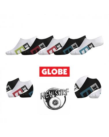 Lot de 5 paires de chaussettes invisibles 71129061 Globe, shop New Surf à Dinan, Bretagne