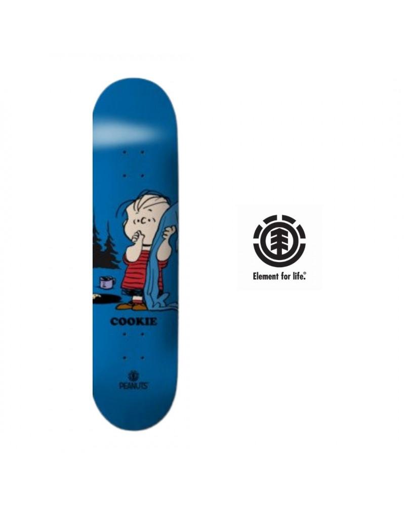 Planche de skateboard Peanuts Linus & Cookie Element, shop New Surf à Dinan, Bretagne