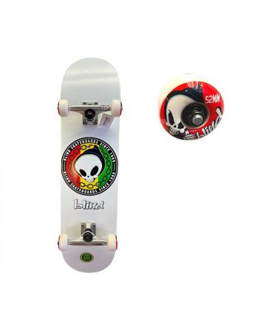 Skateboard Full Rasta Blind, détail de la roue, shop New Surf à Dinan, Bretagne