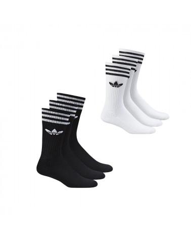 Lot de 3 paires de chaussettes Solid Adidas, shop New Surf à Dinan, Bretagne