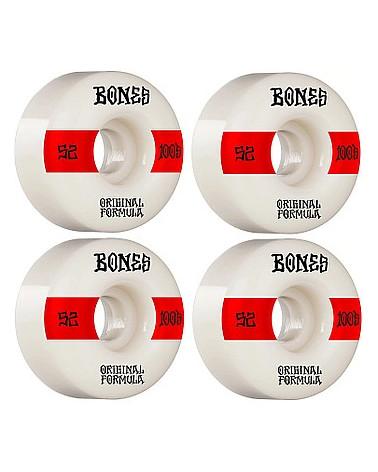 Roues Bones 100's 52mm V4, shop New Surf à Dinan, Bretagne