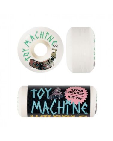 Roues (Pack de 4) Toy Machine Sect Skater 52mm 100A, shop New Surf à Dinan, Bretagne