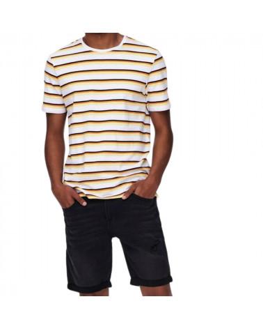 T-Shirt Tomas Sripe Slim Only and Sons, shop New Surf à Dinan, Bretagne