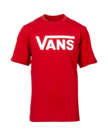 T-shirt manches courtes Classique Vans couleur rouge logo blanc