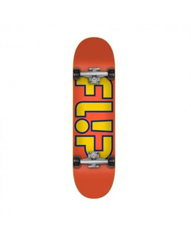 """Skateboard complet Flip Team Outlined Orange 8"""", shop New Surf à Dinan, Bretagne"""