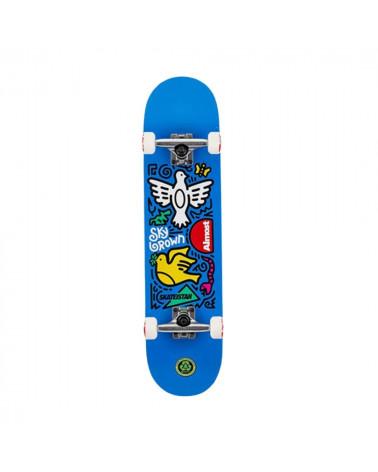 """Skateboard complet Almost Skateistan Sky Brown Doodle 7.5"""", shop New surf à Dinan, Bretagne"""
