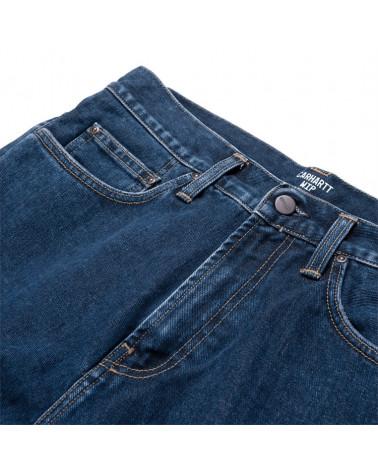 Pantalon Jean Pontiac Carhartt, détail boutonnage, shop New Surf à Dinan, Bretagne