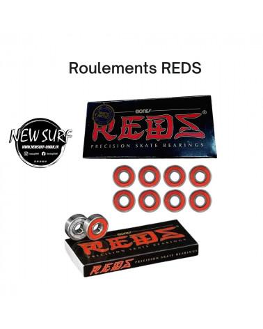 Boite de 8 roulements Reds, shop New Surf à Dinan, Bretagne