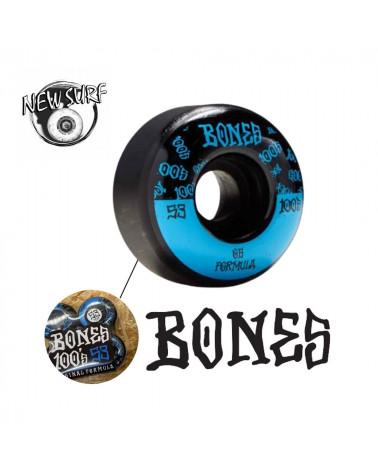 Lot de 4 roues de skate Bones, shop New Surf à Dinan, Bretagne