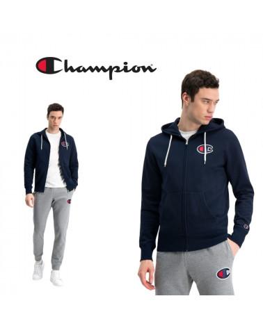 Sweat à capuche zippé Rochester 1919 à logo C Champion, shop New Surf à Dinan, Bretagne