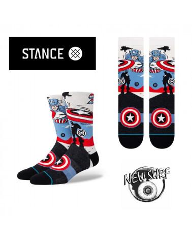 Chaussettes Captain America Stance, shop New Surf à Dinan, Bretagne